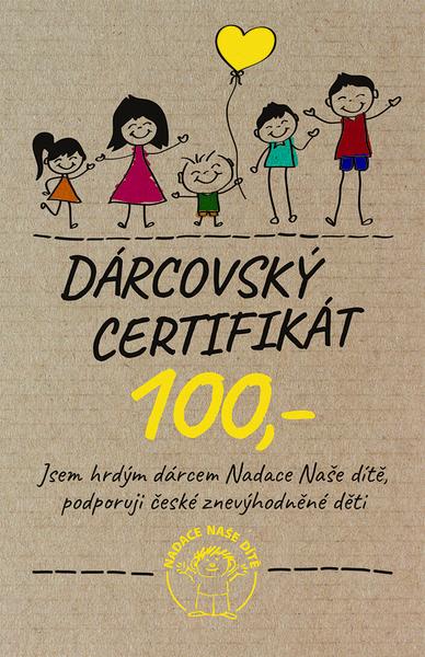 Dárcovský certifikát 100