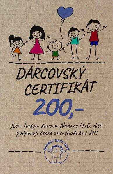Dárcovský certifikát 200