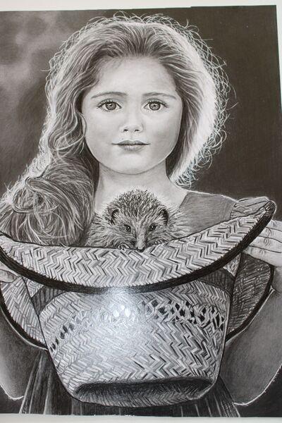 Holčička s ježkem