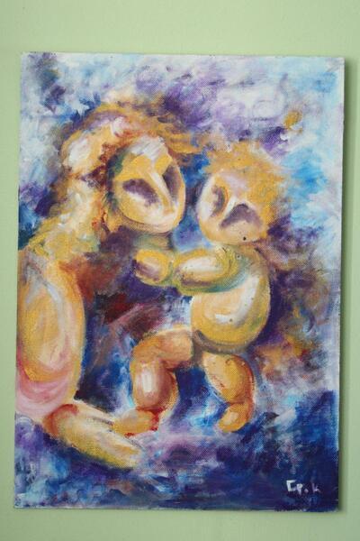 Panna Marie s dítětem