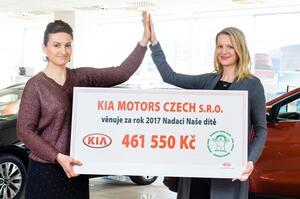 Automobilka KIA se rozhodla podpořit také děti s postižením DMO
