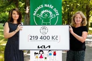 KIA věnuje na pomoc pro děti s PAS a DMO 219 400 korun!