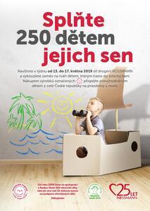 Nadace Naše dítě a ROSSMANN pošle 250 znevýhodněných dětí k moři