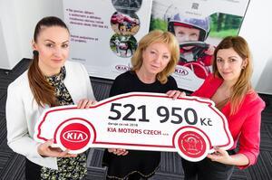 KIA za rok 2018 věnovala Nadaci Naše dítě rekordní částku: 521 950 korun